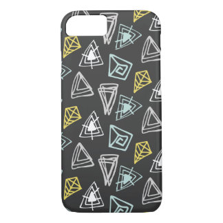 Hand Drawn Pattern with Triangles and Squiggles iPhone 7 Case