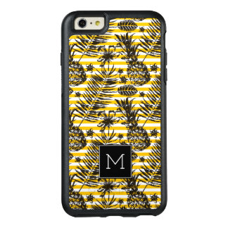 Hand Drawn Pineapples | Monogram OtterBox iPhone 6/6s Plus Case