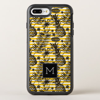 Hand Drawn Pineapples | Monogram OtterBox Symmetry iPhone 8 Plus/7 Plus Case