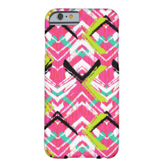 Hand Drawn Pink Zig Zag Pattern Barely There iPhone 6 Case