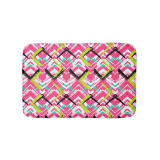 Hand Drawn Pink Zig Zag Pattern Bath Mat