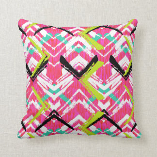 Hand Drawn Pink Zig Zag Pattern Cushion