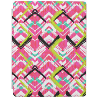 Hand Drawn Pink Zig Zag Pattern iPad Cover
