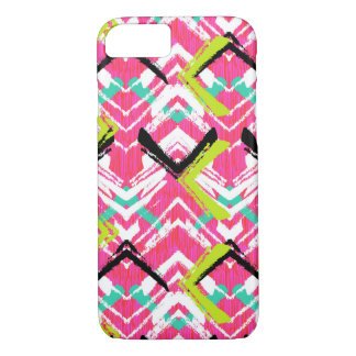Hand Drawn Pink Zig Zag Pattern iPhone 8/7 Case