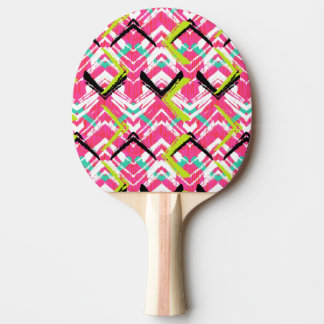 Hand Drawn Pink Zig Zag Pattern Ping Pong Paddle
