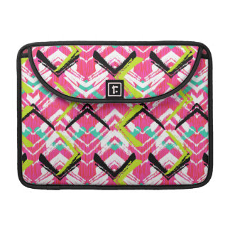 Hand Drawn Pink Zig Zag Pattern Sleeve For MacBooks