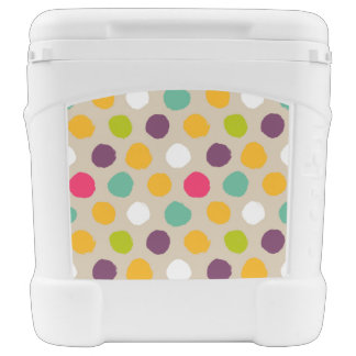 Hand-drawn polka dot pattern cooler