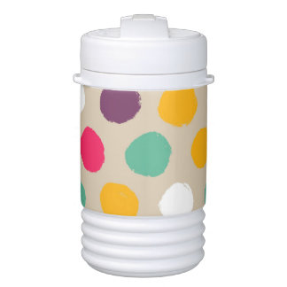 Hand-drawn polka dot pattern drinks cooler