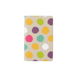 Hand-drawn polka dot pattern pocket moleskine notebook
