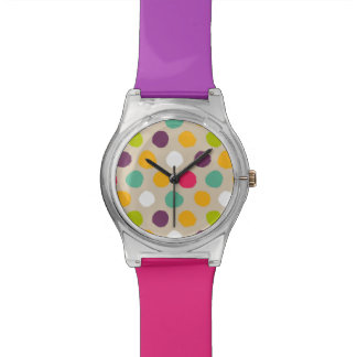 Hand-drawn polka dot pattern watch