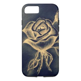 Hand Drawn Rose, Apple iPhone 7, Tough Case