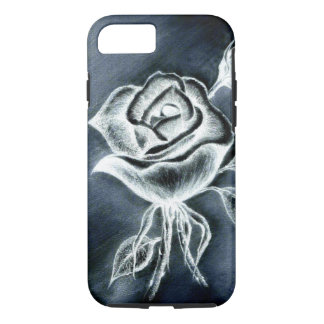 Hand Drawn Rose B&W, Apple iPhone 7, Tough Case