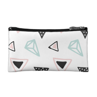 Hand Drawn Shapes Pattern (Customizeable Color!) Cosmetics Bags