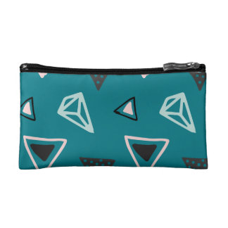 Hand Drawn Shapes Pattern (Customizeable Color!) Makeup Bags