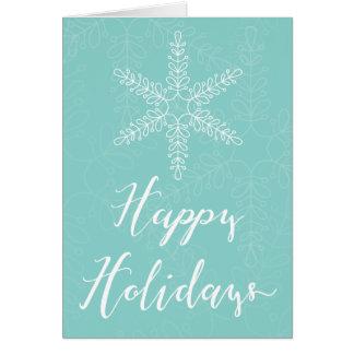 Hand Drawn Snowflakes Calligraphy Christmas Card