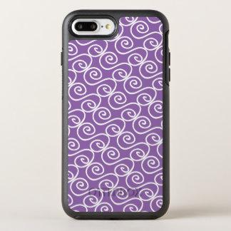 Hand Drawn Swirly Pattern on Light Purple OtterBox Symmetry iPhone 8 Plus/7 Plus Case