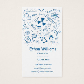 Hand-drawn Teaching Elements Science Tutor Business Card