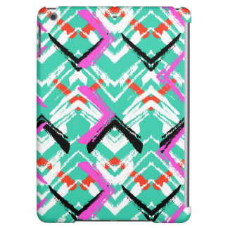 Hand Drawn Teal Zig Zag Pattern