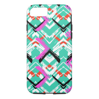 Hand Drawn Teal Zig Zag Pattern iPhone 8/7 Case