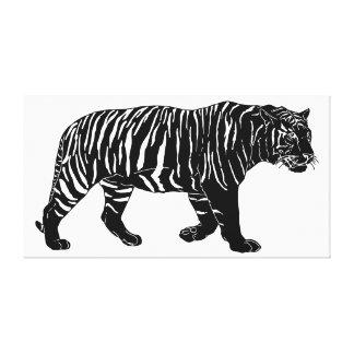 Hand Drawn Tiger Drawing Poster Canvas Print