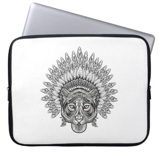 Hand Drawn Tiger In Style Laptop Sleeve