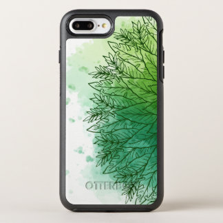 Hand Drawn Watercolor Green Leaves | Phone Case