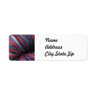 Hand Dyed Yarn Return Address Label