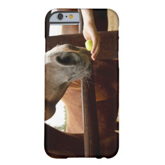 Hand feeding a horse an . barely there iPhone 6 case