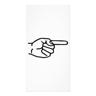 Hand finger photo card