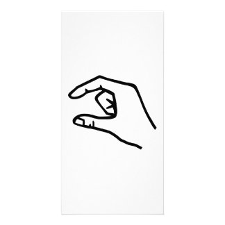 Hand finger picture card
