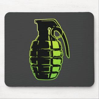 Hand Grenade - green Mouse Mat