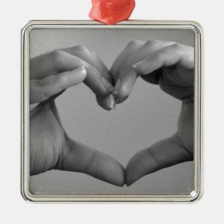Hand Heart Christmas Ornament