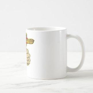 Hand Holding Cross of Jesus Christ Basic White Mug