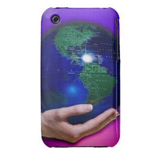 Hand holding earth Case-Mate iPhone 3 cases