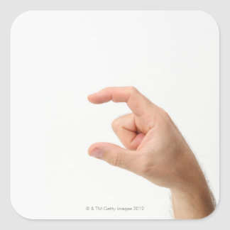 Hand Holding, Empty Square Sticker