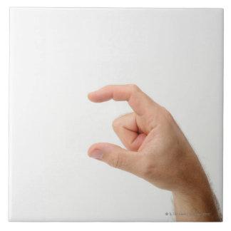 Hand Holding, Empty Tile