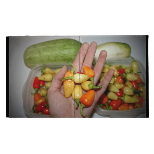 hand holding hot peppers food image iPad cases