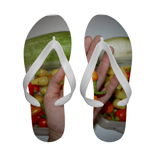 hand holding hot peppers food image sandals