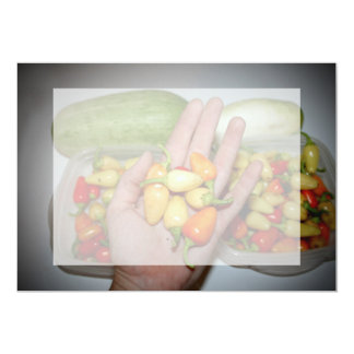 hand holding hot peppers food image personalized invitation