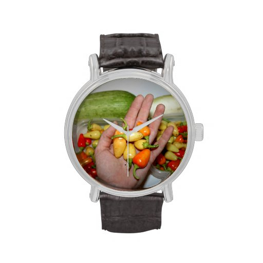 hand holding hot peppers food image watch