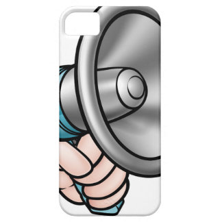 Hand Holding Megaphone iPhone 5 Cover