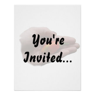 Hand Holding One habanero Hot Pepper 1 Personalized Invitations