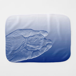 hand holding pepper raised  blue food abstract burp cloths