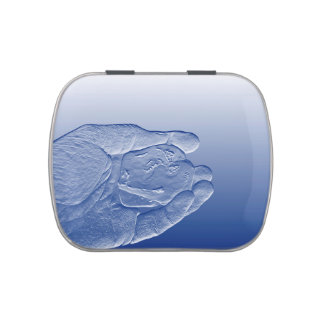 hand holding pepper raised  blue food abstract jelly belly tin