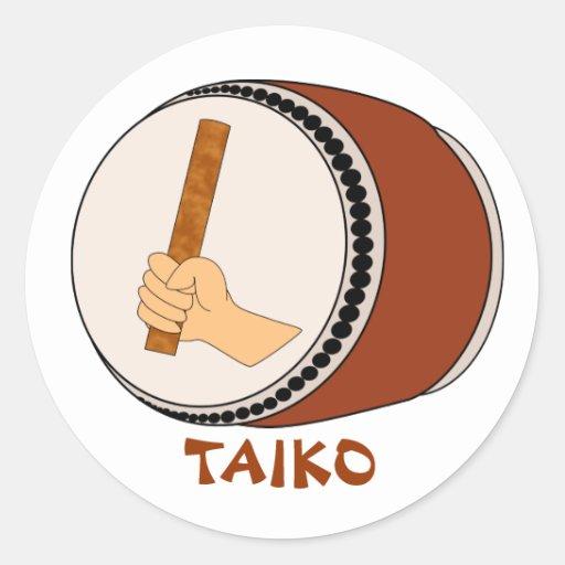 Hand Holding Stick Taiko Drum Japanese Drumming Sticker