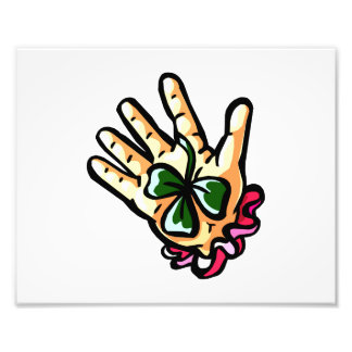 hand holding three leaf lucky clover png photograph