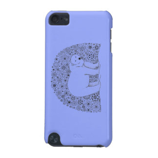 Hand Illustrated Artsy Floral Polar Bear iPod Touch (5th Generation) Cover