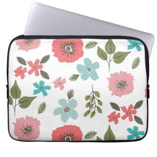Hand Illustrated Floral Print Laptop Sleeve