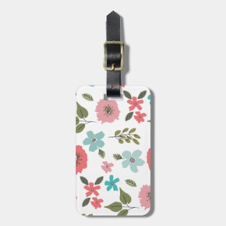 Hand Illustrated Floral Print Luggage Tag
