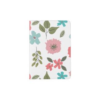 Hand Illustrated Floral Print Passport Holder